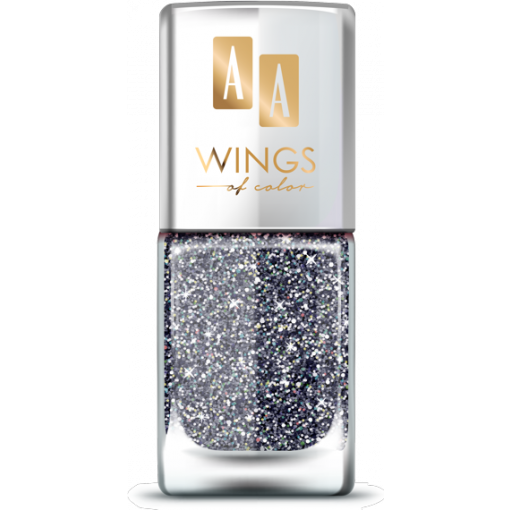 AA Wings of Color Summer Festival brokatowy holograficzny lakier do paznokci 106 BLACK 11 ml