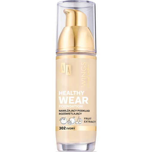 AA WINGS OF COLOR Healthy Wear Foundation Podkład Nawilżający 302 Ivory 35 ml