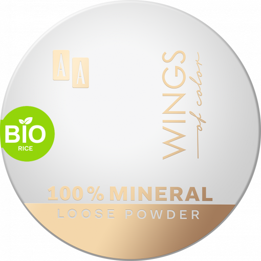 AA WINGS OF COLOR 100% Mineral Bio Rice Loose Powder 13 Transparent 8 g