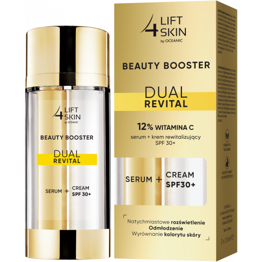 Lift4Skin Beauty Booster Dual Revital 12% WITAMINA C serum + krem rewitalizujący SPF 30+ 2x15 ml