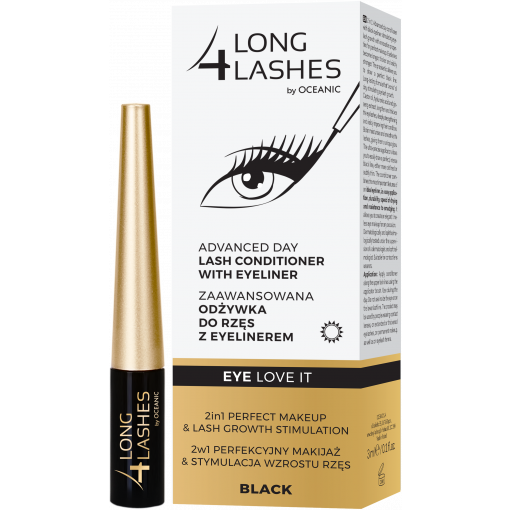 LONG4LASHES EYE LOVE IT Zaawansowana odżywka do rzęs z eyelinerem 3 ml