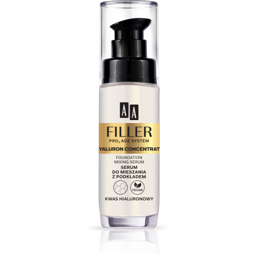 AA FILLER PRO3 AGE SYSTEM Hyaluron Concentrate Serum Do Mieszania Z Podkładem Kwas Hialuronowy 30 ml