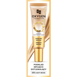 AA OXYGEN FOUNDATION Podkład Kryjąco Dotleniający 103 Light Beige, 30 ml