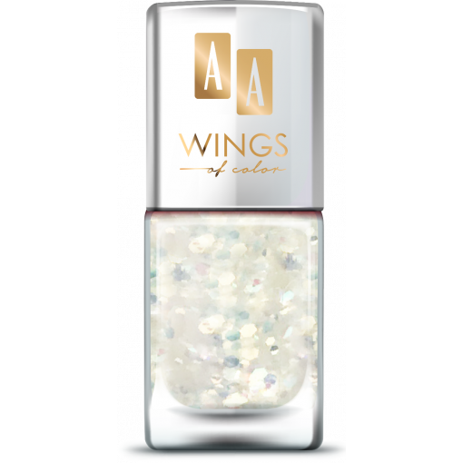 AA Wings of Color Summer Festival brokatowy holograficzny lakier do paznokci 104 WHITE 11 ml