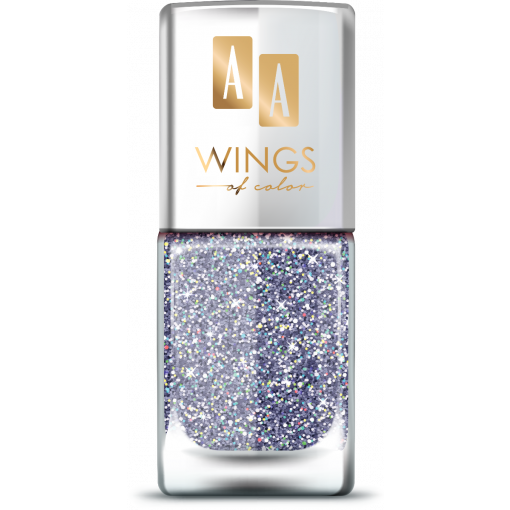 AA Wings of Color Summer Festival brokatowy holograficzny lakier do paznokci 105 VIOLET 11 ml