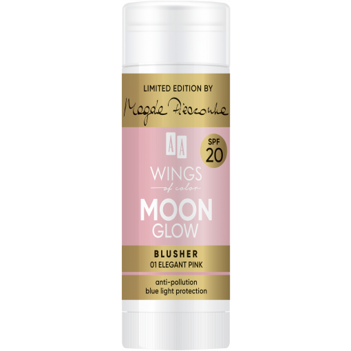 AA WINGS OF COLOR Moon Glow Blusher SPF 20 by Magda Pieczonka 01 Elegant Pink 20 g