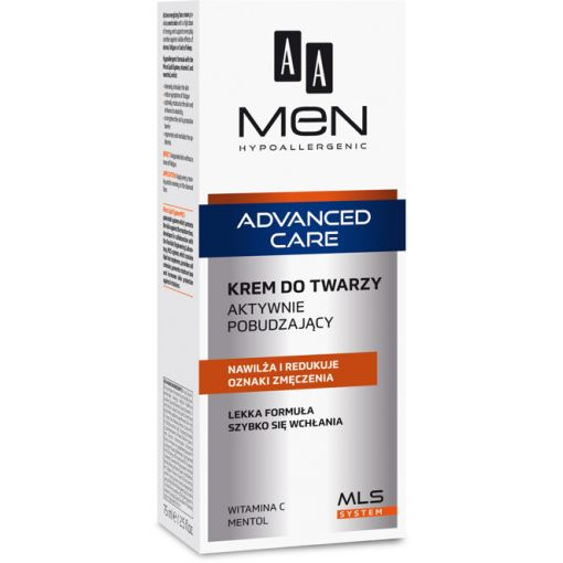 AA Men Advanced Care krem do twarzy aktywnie pobudzający 75 ml