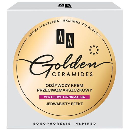 AA Golden Ceramides odżwyczy krem przeciwzmarszczkowy na dzień cera sucha/normalna 50 ml