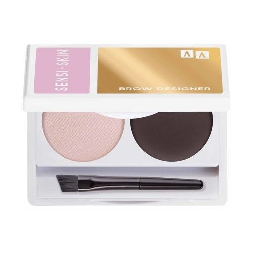 AA  SENSISKIN Brow Designer Eyebrow Wax And Highlighter Duo Set Koloryzujący Wosk Do Brwi I Rozświetlacz 11 Natural Grey 2,2g