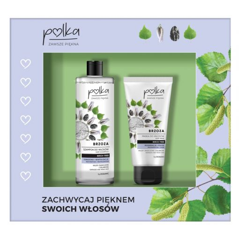 Zestaw kosmetyków Polka – szampon + maska do włosów brzoza