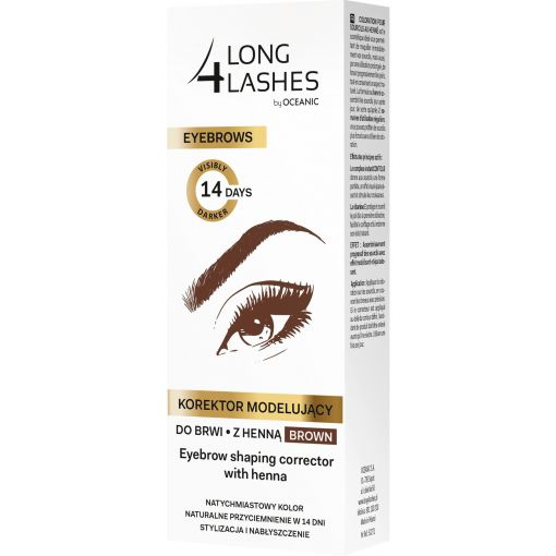 LONG4LASHES Korektor modelujący do brwi z henną brown 10 ml