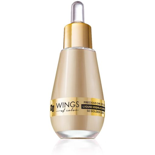 AA WINGS OF COLOR Precious 24K Gold Liquid Highlighter 02 Golden Sun 15ml