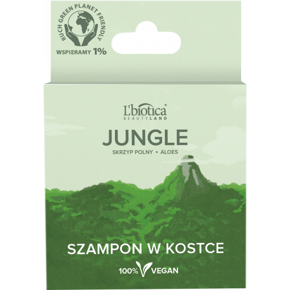 L'BIOTICA Beauty Land Jungle Szampon w kostce Skrzyp polny i aloes 82 g