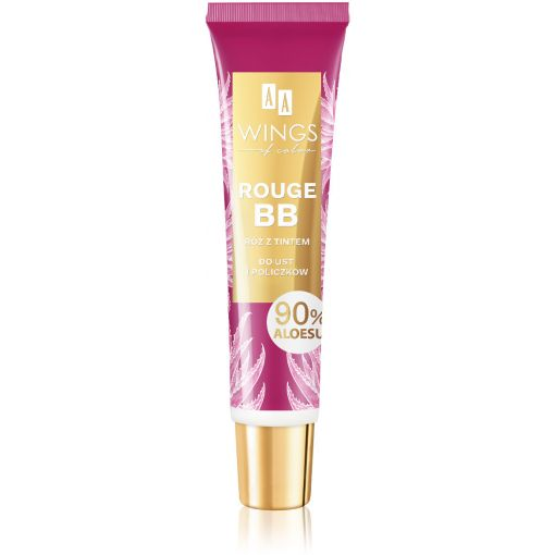AA WINGS OF COLOR Rouge BB Róż Z Tintem Do Ust I Policzków 90% Aloesu 10 ml