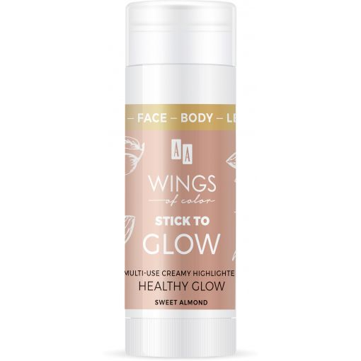 AA WINGS OF COLOR Face&Body&Leg Stick To Glow Multiuse Creamy Highlighter Healthy Glow Sweet Almond Oil 25 g