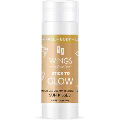 AA WINGS OF COLOR Face&Body&Leg Stick To Glow Multiuse Creamy Highlighter Sun Kissed Sweet Almond 25 g