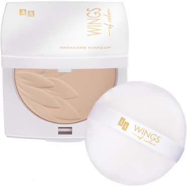 AA WINGS OF COLOR Silky Smooth Compact Powder Jedwabisty 91 Light Beige 8,5 g