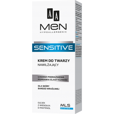 AA MEN SENSITIVE Krem do twarzy nawilżający 75 ml