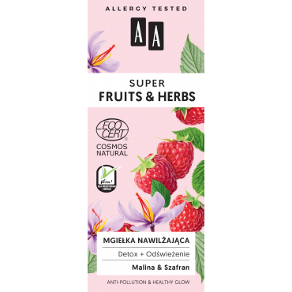 AA SUPER FRUITS&HERBS mgiełka nawilżająca detox+odświeżenie NATURAL 50 ml