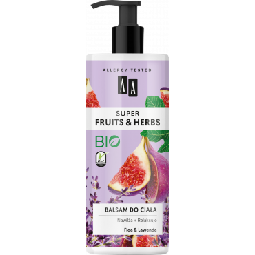 AA SUPER FRUITS&HERBS balsam do ciała figa&lawenda 500 ml