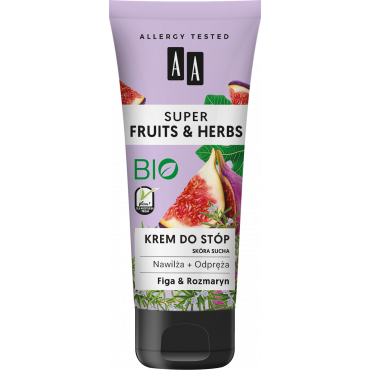 AA SUPER FRUITS&HERBS krem do stóp rozmaryn&figa 75 ml