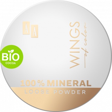 AA WINGS OF COLOR 100% Mineral Bio Cocoa Loose Powder 14 Contour&Bronze 8 g