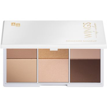 AA WINGS OF COLOR Nude Style Eyeshadow Palette Paleta Cienie 6 Nude Odcieni 3x4g
