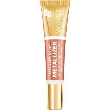 AA WINGS OF COLOR Eye&Lips&Body Metallizer Cień Do Powiek, Ust i Ciała 80 Glamorous Cream 10ml