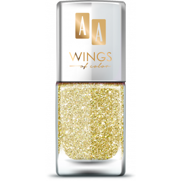 AA Wings of Color Summer Festival brokatowy holograficzny lakier do paznokci 101 GOLD 11 ml