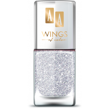 AA Wings of Color Summer Festival brokatowy holograficzny lakier do paznokci 102 SILVER 11 ml