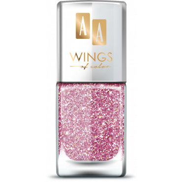 AA Wings of Color Summer Festival brokatowy holograficzny lakier do paznokci 103 PINK 11 ml