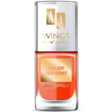 AA WINGS OF COLOR Color Top Coat 03 Orange Honey 11 ml