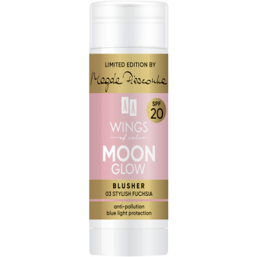 AA WINGS OF COLOR Moon Glow Blusher SPF 20 by Magda Pieczonka 03 Stylish Fuchsia 20 g