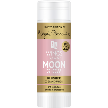 AA WINGS OF COLOR Moon Glow Blusher SPF 20 by Magda Pieczonka 02 Glam Orange 20 g