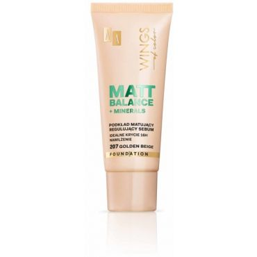 AA WINGS OF COLOR Matt Balance Foundation Podkład Matujący 207 Golden Beige 30ml