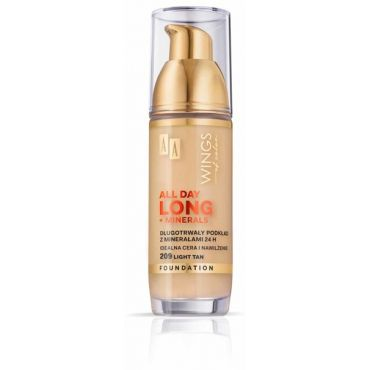AA WINGS OF COLOR All Day Long Foundation Długotrwały Podkład 24h 209 Light Tan 35ml