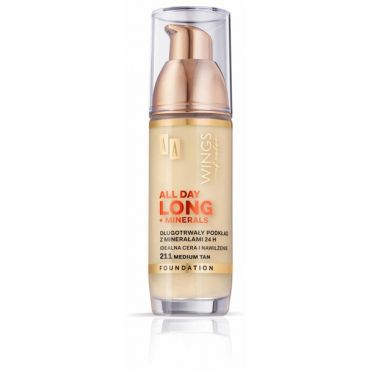 AA WINGS OF COLOR All Day Long Foundation Długotrwały Podkład 24h 211 Medium Tan 35ml