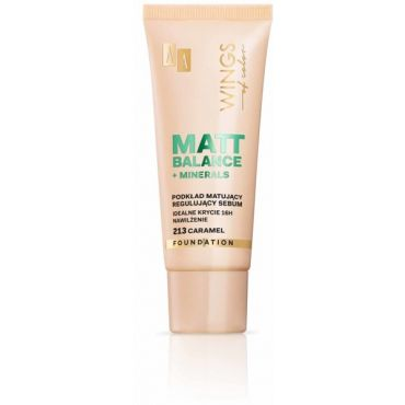 AA WINGS OF COLOR Matt Balance Foundation Foundation Podkład Matujący 213 Caramel 30ml