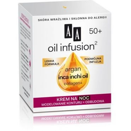 AA Oil Infusion2 50+ krem na noc modelowanie konturu + odbudowa 50 ml
