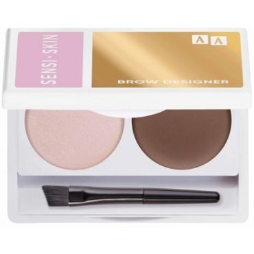 AA SENSISKIN  Brow Designer Eyebrow Wax And Highlighter Duo Set Koloryzujący Wosk Do Brwi I Rozświetlacz 10 Brown 2,2g