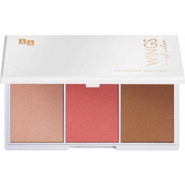 AA WINGS OF COLOR 3 Step Face Contouring Set Zestaw Do Modelowania Twarzy Dark 3x3,5G