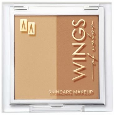AA WINGS OF COLOR Perfect Shape Duo Powder Puder Modelujący W Dwóch Odcieniach 50 Latte 7g