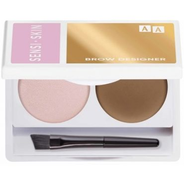 AA SENSISKIN Brow Designer Eyebrow Wax And Highlighter Duo Set Koloryzujący Wosk Do Brwi I Rozświetlacz 13 Blond  2,2g