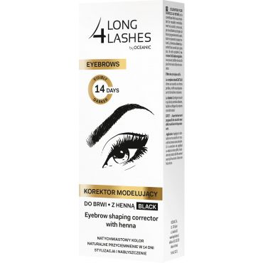 LONG4LASHES Korektor modelujący do brwi z henną black 10 ml