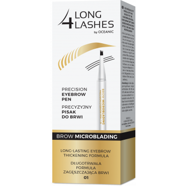 LONG4LASHES BROW MICROBLADING Precyzyjny pisak do do brwi 01 medium brown 1,1 ml