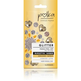 POLKA Glitter Maska Peel off Bursztyn Nawilżenie+ Napięcie 6 ml
