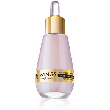 AA WINGS OF COLOR Precious 24K Gold Liquid Highlighter 01 High Rose 15ml