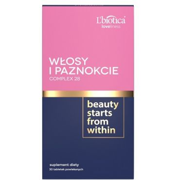 L'BIOTICA Włosy i Paznokcie Complex 28 - 30 tabletek