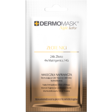 L'BIOTICA Dermomask Night Active Złote Nici - 12 ml
